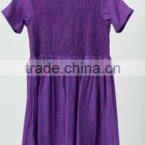 SMOCKING PURPLE COLOUR DRESS