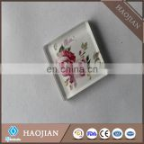 Sublimation smooth round and square blank tempered glass tiles