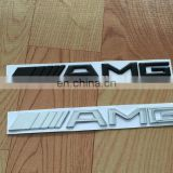 AMG Metal Emblem Badge Logo Alloy Car Logo Grill Badge for car decoration 3D ABS Chrome Black Sticker Emblem 3D Car Badges 185mm