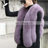 Wholesale Cheap Price Real Fox Fur Vest Winter Vest Woman