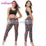 Hot Sale Fashion 92% Polyester 8% Spandex Ladies Push Up Fashion Leggings