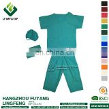 Scrubs tops 2017 Hot Sale Green Hospital Uniform For Doctor