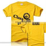 Custom Promotional Printed T-shirt with Round Neck for Advertising