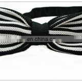 knitted microfiber or silk pre-tied bow tie