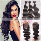 silk base lace closure body wave free part peruvian virgin hair bundles with lace closure