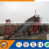 Qingzhou Dongfang New Design Bucket Chain Dredger gold mining gold dredger
