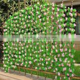 Artificial Faux flower Privacy Fence Screen Decoration Panels Windscreen Patio