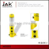 JAK HF2005 CE and RoHS certificated 1w White LED and 18 Red LED Light with hammer belt cutter and magnet for stalled car