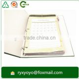 wholesale loose-leaf paper printed 3 ring binder for catalog