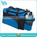 Custom Polyester Family Travel Cooler Bag, Insulated Carrying Travel Cooler Bag With Side Bottle Pokcet