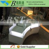 Custom made free standing display showcase for cosmetic shop furniture