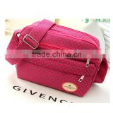 Fashion OEM service custom pink bags single cross body shoulder canvas bag