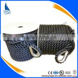 anchor line anchor rope 3 strand twisted polyester rope for marine supplies                                                                                                         Supplier's Choice