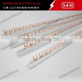 U type earth busbar for 2p mcb (busbar mcb,copper busbar)