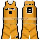 2014 cheap basketball jersey uniform yellow color