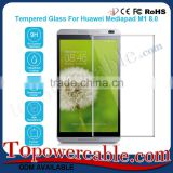 Ultra 0.26mm Thin Tempered Glass Toughened Glass Film Mobile Screen Guard For Huawei Mediapad M1 8.0