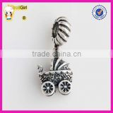 925 sterling silver baby carriage Pendant for Bracelet and necklace
