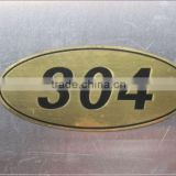 scutcheon, jeans leather label Laser Marking Service on Stainless Steel/Stainless steel scutcheon