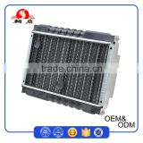 OEM Pressing Aluminium Round Tubes Flat Fins Taxi Tricycle Radiator With 80W Radiator Fan