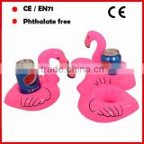 promotional pvc inflatable flamingo pool drinking bottle holders for promotion