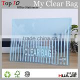 Transparent plastic my clear bag a4 plastic clear file folder carrying case document holder sheet protector with lock