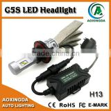 8000 Lumens very bright fanless head light H13 9008 H4 9004 9007 high/low dual beam LED headlights 6500K