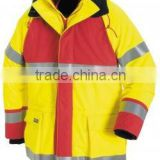 2015 men's work jacket for industry, OEM cheap workwear with reflective stripes