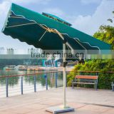 Large Windproof Green Red Beige Round Square Bali Tilt Mechanism Customized Outdoor Patio Garden Beach Umbrella with Marble Base                                                                         Quality Choice