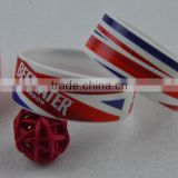 CMYK printing Single Cheap Custom Festival RFID Woven Fabric Wristband for Events