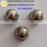 custom stainless steel precision cap nut