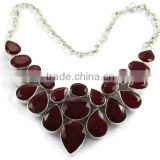 Sterling Silver hand made Gemstone Necklace