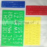 Factory Wholesale OEM High Quality Plastic Letter Stencil Ruler stationery file folder