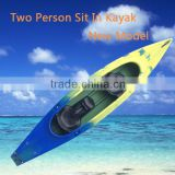 river kayak / kayak roto mold / 2 person kayak