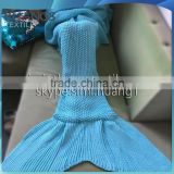 E-cowlboy 2016 Latest Handmade Mermaid Tail Blanket with Scales,Handcraft Crochet Sleeping Bag Blanket                                                                         Quality Choice
