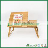 Bamboo laptop computer table with book stand