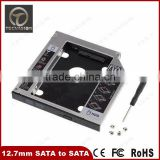 Aluminum 12.7mm 2nd Hard Drive DVD Bay Caddy SATA to SATA For Laptop Acer/Asus/Dell for Sony