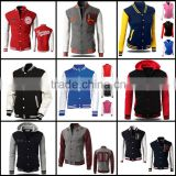 custom made baseball jacket,3d print hooded jacket coat
