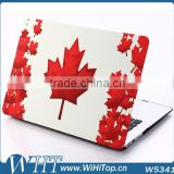 Alibaba China Products Maple Leaf Matted Frosted Printing Case Cover for Macbook Air Pro Retian11'' 13'15''