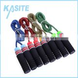 2.7M cotton speed skipping rope,PP handle with single colorful foam