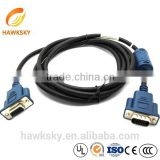 2 Rows OBD VGA 15 PIN Male to Famale Cable Computer Wiring Harness Monitor Cable with Magnetic Ring