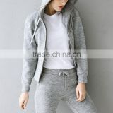Women's Sweat Suit Full Zip Jacket Pants Jogging Tracksuit OEM ODM Type Clothes Supplier Manufacturer Factory Guangzhou