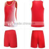 custom sleeveless new design men's track suit athletics team uniform jogging set athletic garment                                                                         Quality Choice