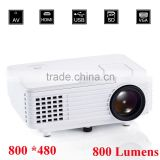 New Arrive 800 Lumens Portable Multimedia 800*480 Native Resolution 4 Inch LCD Full HD Digital LED Projector Home Theater