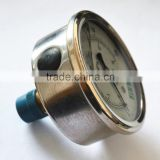 high quality back mounting and bottom mounting stainless steel hydraulic oil filled pressure gauges