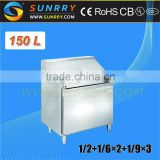 Stainless Steel Salad Bar Pizza Table Refrigerator Sale Single Door (SY-RST700S SUNRRY)