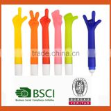 Personalized Colorful Finger Shaped Posture Plastic Pen                                                                         Quality Choice