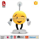 2015 China Yangzhou supply customize Plush Soft Toy Key Chains Yellow emoji keychain                                                                         Quality Choice