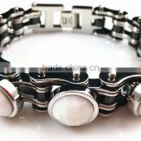 YM029 2013 newest fashion jewelry factory supply biker chain stainless steel bracelet