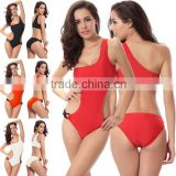 Tropical resort sexy bikini chic O-ring no steel prop piece swimsuit                                                                         Quality Choice
