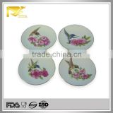home decor 8 '' round humming bird pattern ceramic dish chafing, home use chafing dish